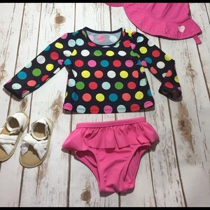 GAP Other - Baby Gap polka dotted/pink swimsuit size 12-18