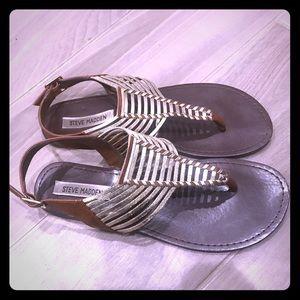 Steve Madden Shoes - Steve Madden Gold/Tan Sandals 8.5