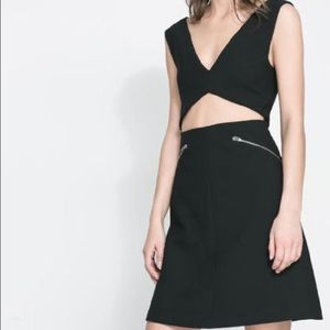 Zara Dresses & Skirts - Zara Studio black cutout zipper dress size S