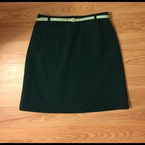 H&M Dresses & Skirts - Deep green mini pencil skirt