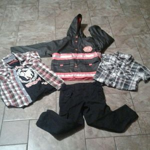 Other - Boys outfit. Size 5 Rain coat.