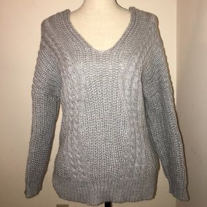 chicwish Sweaters - Soft Cable Knit Sweater with Crisscross Back