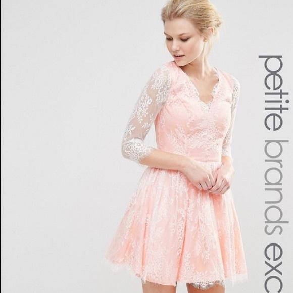 e36ab72d075a ASOS Dresses & Skirts - Chi Chi London petite mini long sleeve lace dress