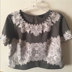 Ice Tops - ⚫CUTE ⚫Faux Lace Crop Top by ICE Size 14/16