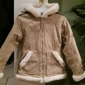 Big Chill Other - Girls Lovely Faux-Fur Trimmed Coat