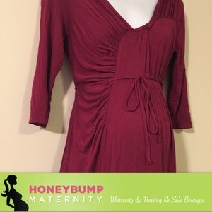Motherhood Maternity Dresses & Skirts - Gorgeous ruched maternity dress size medium