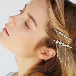 Free People silver star bobby pins