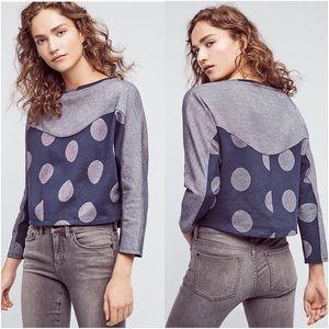 Anthropologie Metallic Dot Sweater