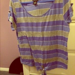 Rue21 Tops - Rue21 purple striped top