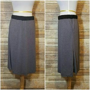 Lucca Couture Dresses & Skirts - Grey Jersey Midi Skirt