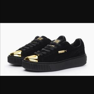 PUMA creepers with gold toe