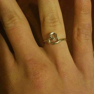 Kay Jewelers Jewelry - 10K white gold heart ring