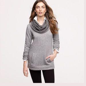 JCREW Gray Funnel Neck Sweatshirt Sweater