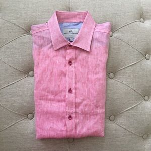 Report Collection Other - Report Collection stripe linen pink shirt