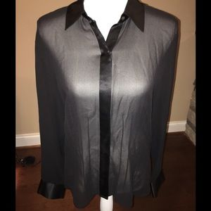 Talbots 100% silk long sleeve blouse