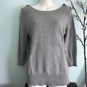 Jones New York Sweaters - Jones New York boat neck gray sweater size M