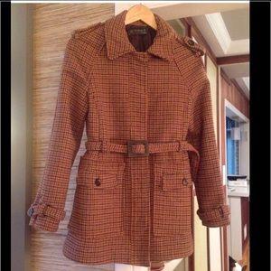 Zara Plaid Wool Coat