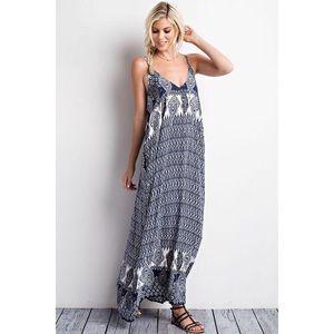 likeNarly Dresses & Skirts - 🆕 Sunday Morning Navy Print Maxi Dress