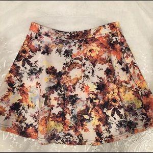 ANGL Dresses & Skirts - Floral Full Mini Skirt