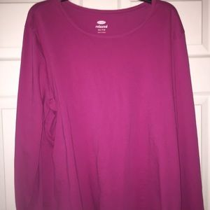 Old navy xxl magenta  long sleeved relaxed tee