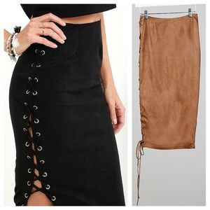 Bloomingdale's Dresses & Skirts - LAST 3 // Carmel Lace Up Skirt