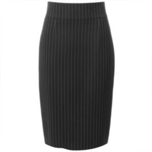 Jones New York Black Pinstriped Pencil Skirt
