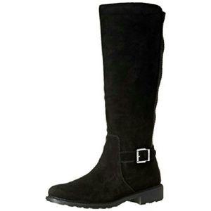 COUGAR 'Jane' Black Suede Riding Boots 9 (B,M)