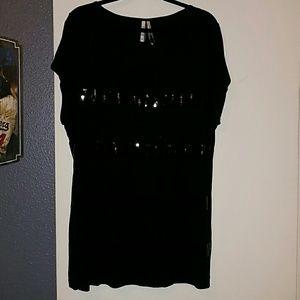Kische Tops - Black sequins top