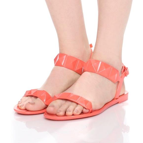 c7b477f3400d Rebecca Minkoff Coral Jana Studded Jelly Sandals. M 58aa5fe29c6fcf24c717d259
