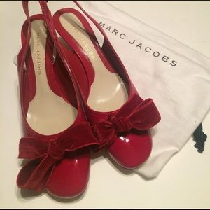 Marc Jacobs Shoes - Marc Jacobs Red Bow Slingbacks - size 37
