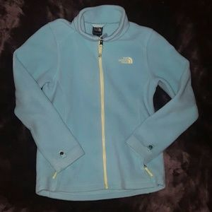 North Face Other - Gorgeous NORTH FACE SEAFOAM BLUE LIME Fleece Coat