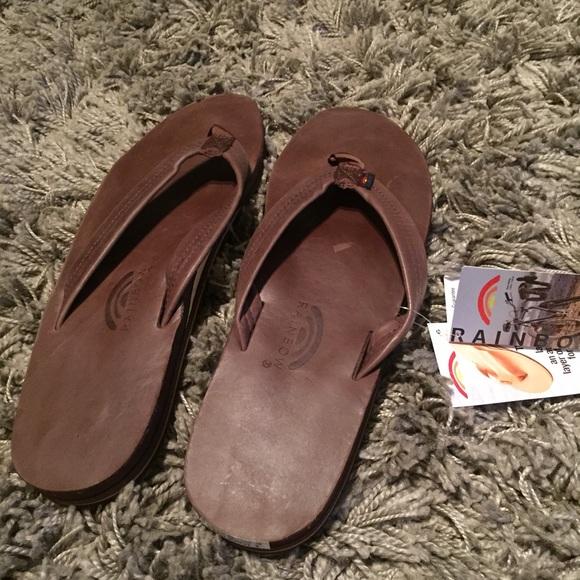 d528e15206127 Men s Leather Rainbow Sandals