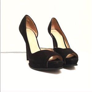 Zara Trafaluc Gorgeous Black Suede Leather Heels