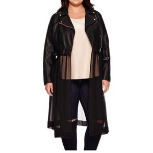 Ashley Nell Tipton Jackets & Blazers - Moto Jacket with Chiffon