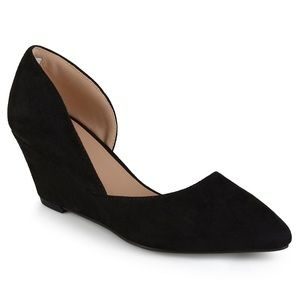 Journee Collection Shoes - Black wedges