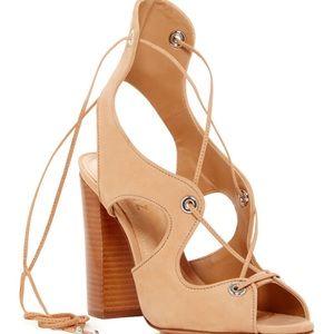 schutz lace up heels on Poshmark