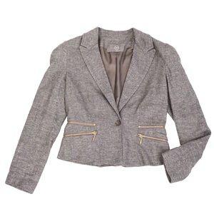 Alexander McQueen Jackets & Blazers - Alexander McQueen McQ Grey Zipper Blazer