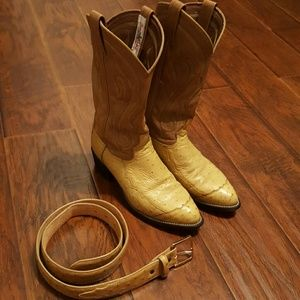 Tony Lama Other - 🌵Tony Lama🌵 ostrich boots & belt