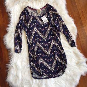Kohls Dresses & Skirts - Printed Boho Ruched Purple Floral Minidress