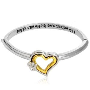 Jewelry - 💛🐾Heart With Paw Bracelet🐾💛