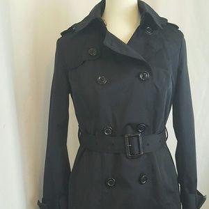 London Fog Jackets & Blazers - London Fog Heritage Black Cotton Trench Coat