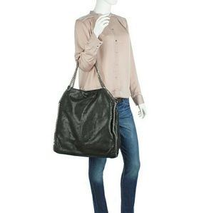 Stella McCartney Handbags - Auth Stella McCartney Black Falabella Big Tote