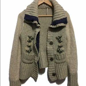 Free people boho chunky knit Sweater
