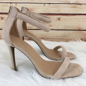 Shoes - ⚡️FINAL⚡️Nude strap heels size 10 (brand new)