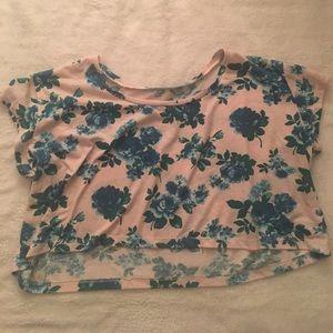 Tops - Floral Crop Top