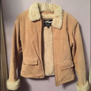 Maxima Jackets & Blazers - Maxima Wilsons Suede Leather fake Fur lined Jacket