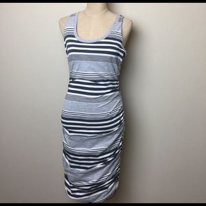 Converse Dresses & Skirts - Converse ruched & striped midi dress