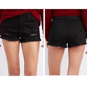 Charlotte Russe High Waisted Black Shorts