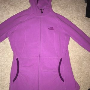 pink/ purple north face