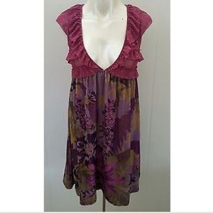 Free People Dresses & Skirts - Free People crushed velvet floral dress S